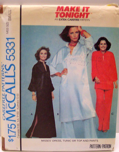 Vintage Sewing Pattern McCalls 5331 Tunic Top Dress Pants … | Flickr
