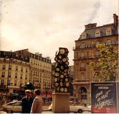 Clock Sculpture outside Gare St. Lazare - Paris - Lubitel - 1989 | by The Green Odyssey