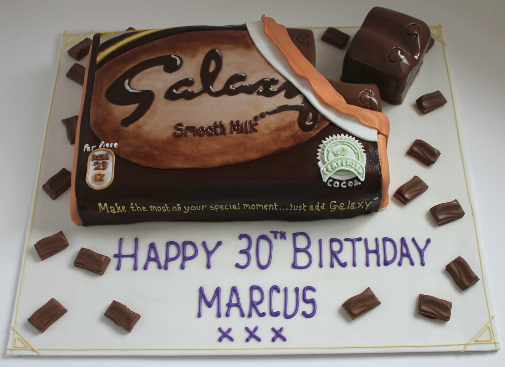 Giant Galaxy Chocolate Bar Birthday Cake Pauls Creative Cakes Flickr