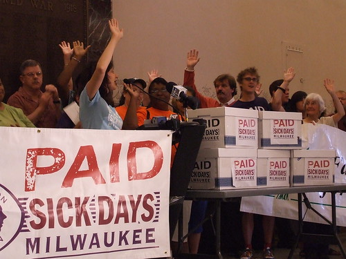 Sangita Nayak at the Milwaukee Paid Sick Days signature hand-over - 2008 | by Voces de la Frontera
