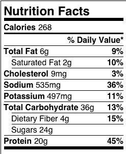 cottage cheese smoothie approximate nutrition facts for 2 flickr rh flickr com nutritional information cottage cheese 1 nutritional information cottage cheese 1