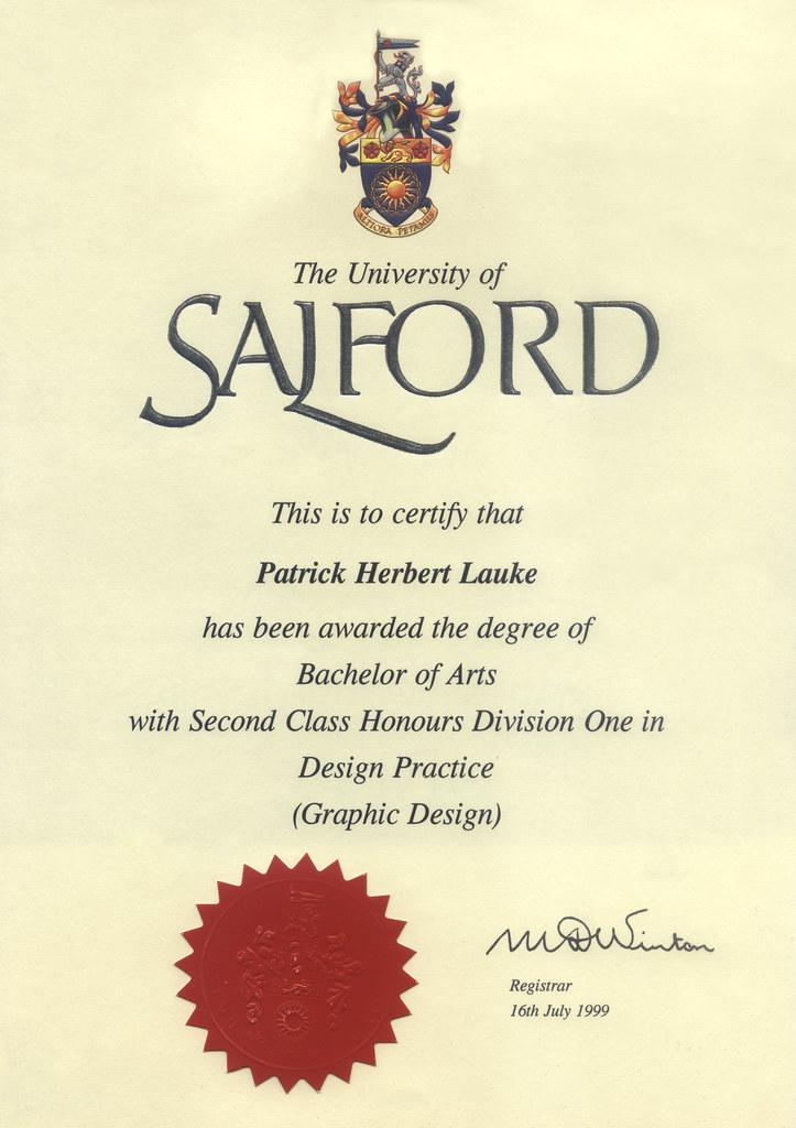 patrick h. lauke - BA certificate | Patrick Lauke | Flickr