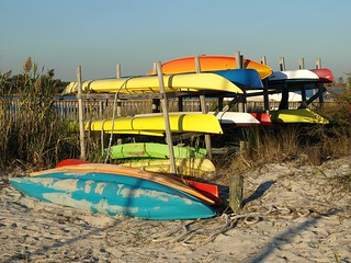 Kayaks at ted 39 s fishing station south oyster bay point l for Point lookout fishing report