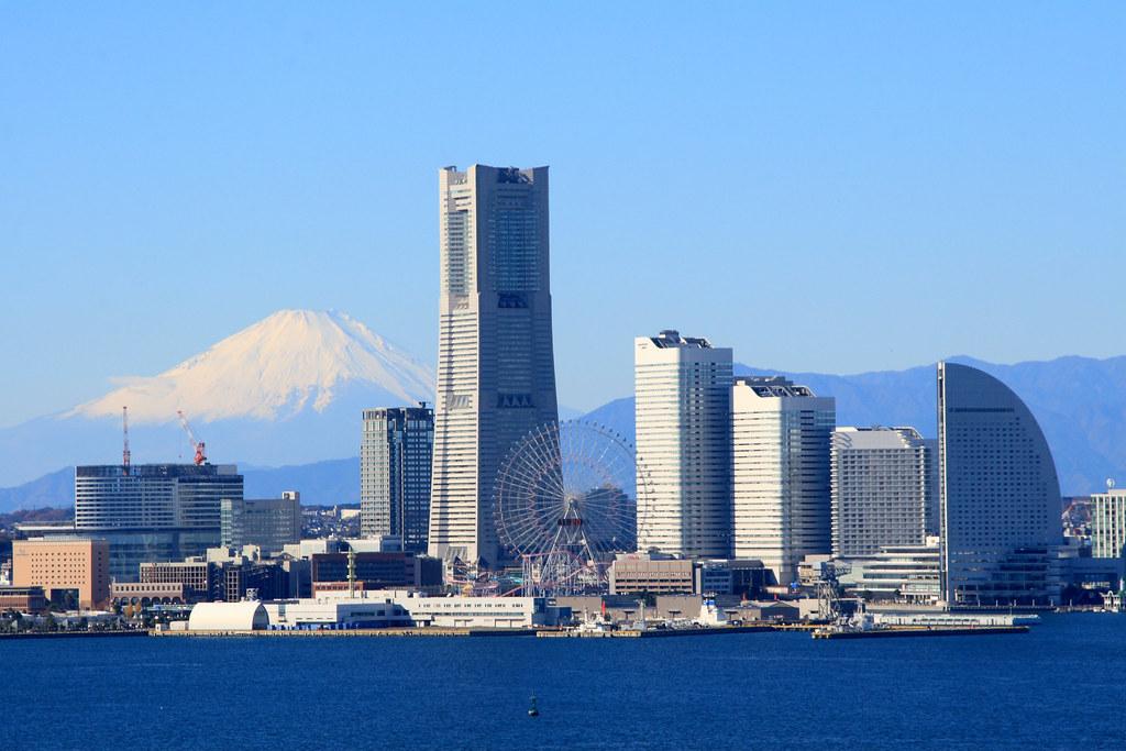 Mt. Fuji from Yokohama