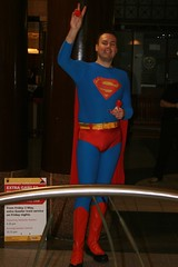 Superman Promoting 'Red Nose Day'