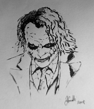 why so serious my second attempt at drawing the joker t flickr