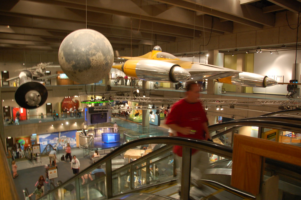 ... Boston Museum of Science: Star Wars Naboo fighter craft, with R2-D2 |