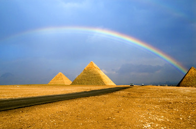 Rainbow over the pyramid | by Haikeu