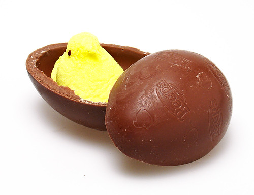 Peeps inside a Milk Chocolate Egg | by cybele-