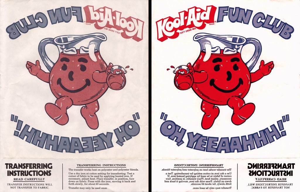 Kool Aid Fun Club Iron On 1970s Heres A Cool Kool Aid Flickr