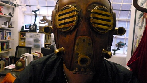 Steampunk mask self-portrait, the office, Clerkenwell, London, UK 3.JPG | by gruntzooki