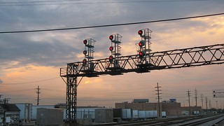 Block signals at sunset. Franklin Park Illinois  June 2008. | by Eddie from Chicago