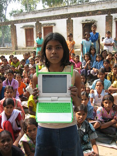 Garima shows off her work | by One Laptop per Child