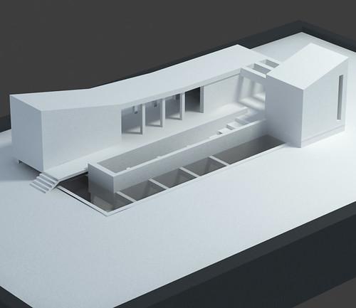 steven spielberg house design model kai l flickr. Black Bedroom Furniture Sets. Home Design Ideas