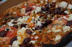 Kalamata olive, tomatoes, basil, garlic and feta pizza | by ...