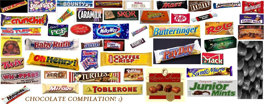 Chocolate bar compilation | Chocolate bar compilation for my… | Flickr