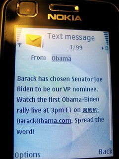 Obama Text Message Announcing Biden as his VP | by brownpau