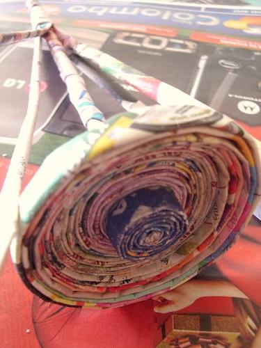 Adesivo De Nuvens Parede ~ A arte em reciclar papel jornal revista encarte www flic u2026 Flickr