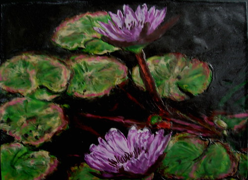 'Lavender Water Lilies' | by MaryLClayPainting