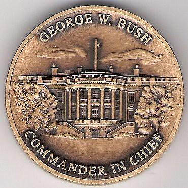 George W Bush Challenge Coin Obverse Numismatic