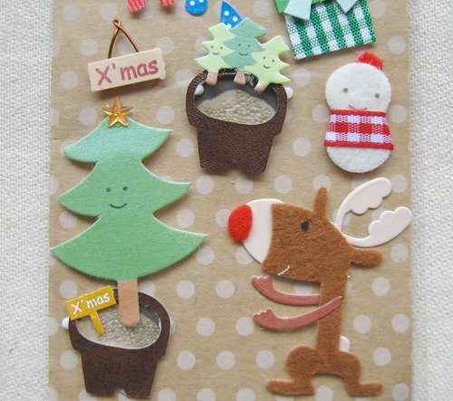 Christmas sticker christmas tree set | by cottonbud_design