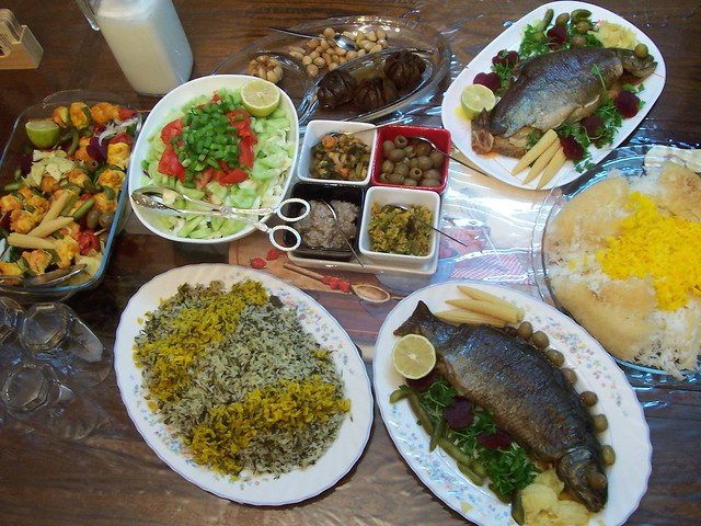 iranian foodسفره ایرانی