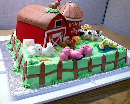 Barnyard Cake Inspired By A Adorable Found On Cake
