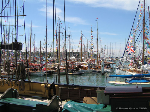 Dressed yachts in Yarmouth harbour | by leightonian