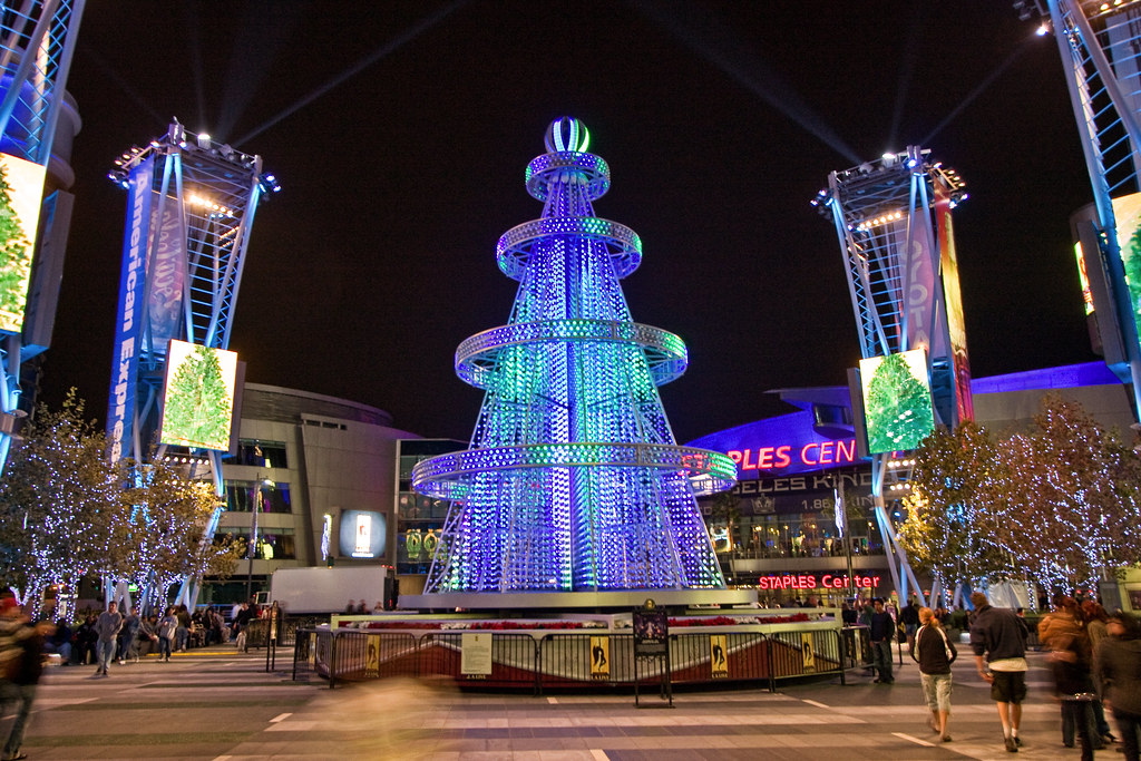 ... L.A. Live Christmas tree | by ccmonty - L.A. Live Christmas Tree Candice Montgomery Flickr