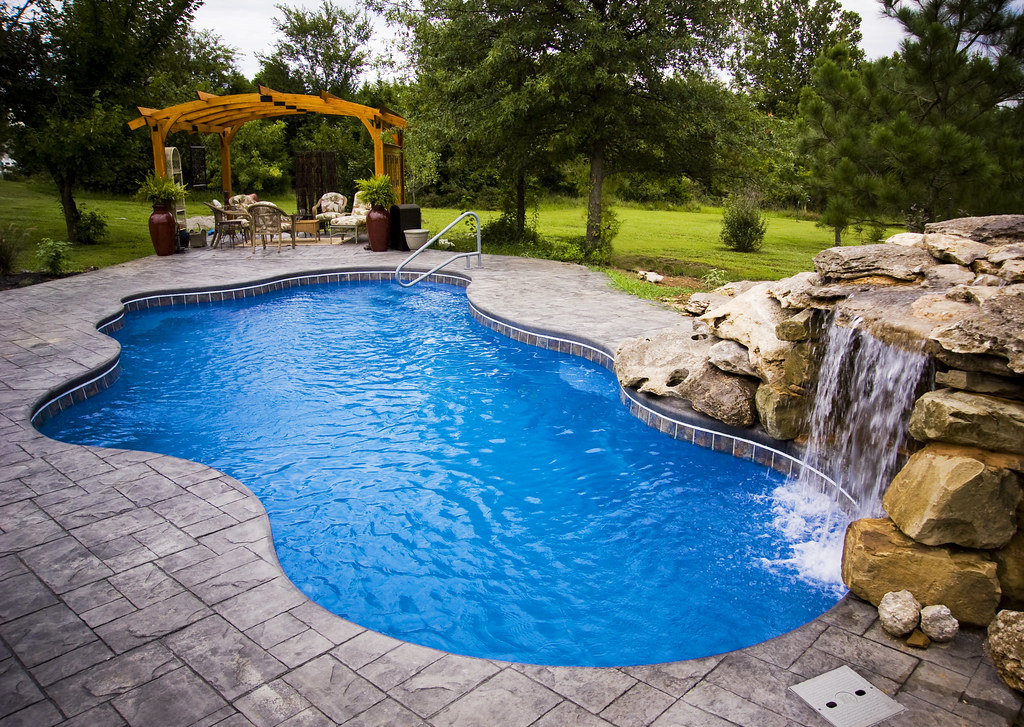 Viking pools cancun model inground fiberglass swimming - Prices of inground swimming pools ...