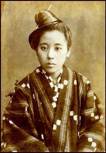 19th century portrait of an okinawan girl this cdv portrai flickr