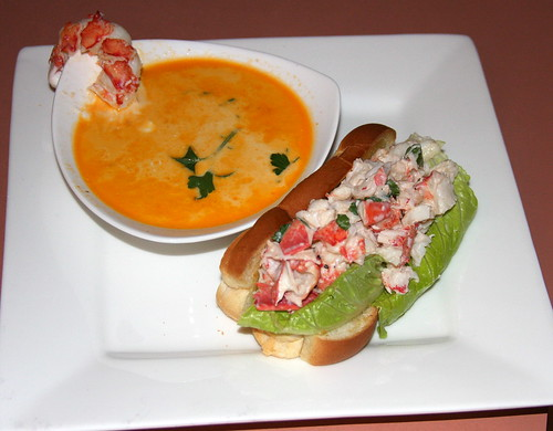 Maine Lobster Bisque and Lobster Roll | by Dana Moos