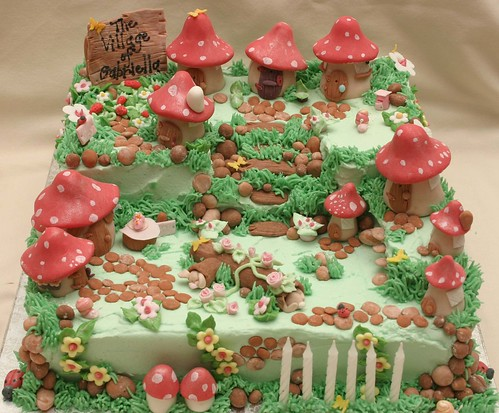 Toadstool Village Cake | by Grace Stevens