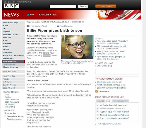 Billie Piper jumps on the Winston bandwagon | by benaston