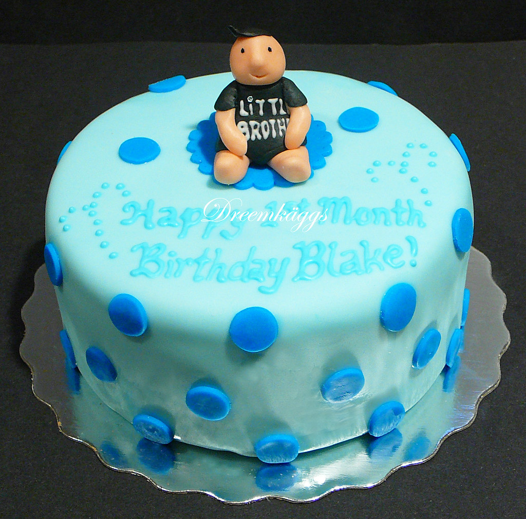 Haydens One Month Birthday Cake Annadreemkaggsgmail Flickr