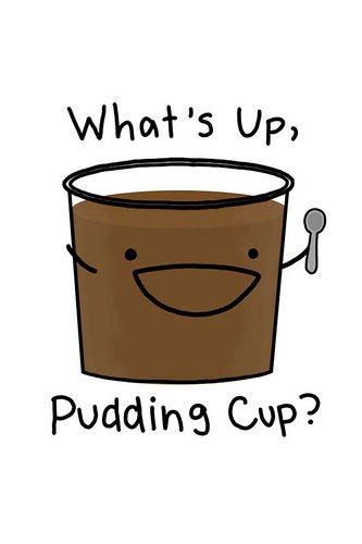 What S Up Pudding Cup Cute Cartoon Pudding Cup Flickr