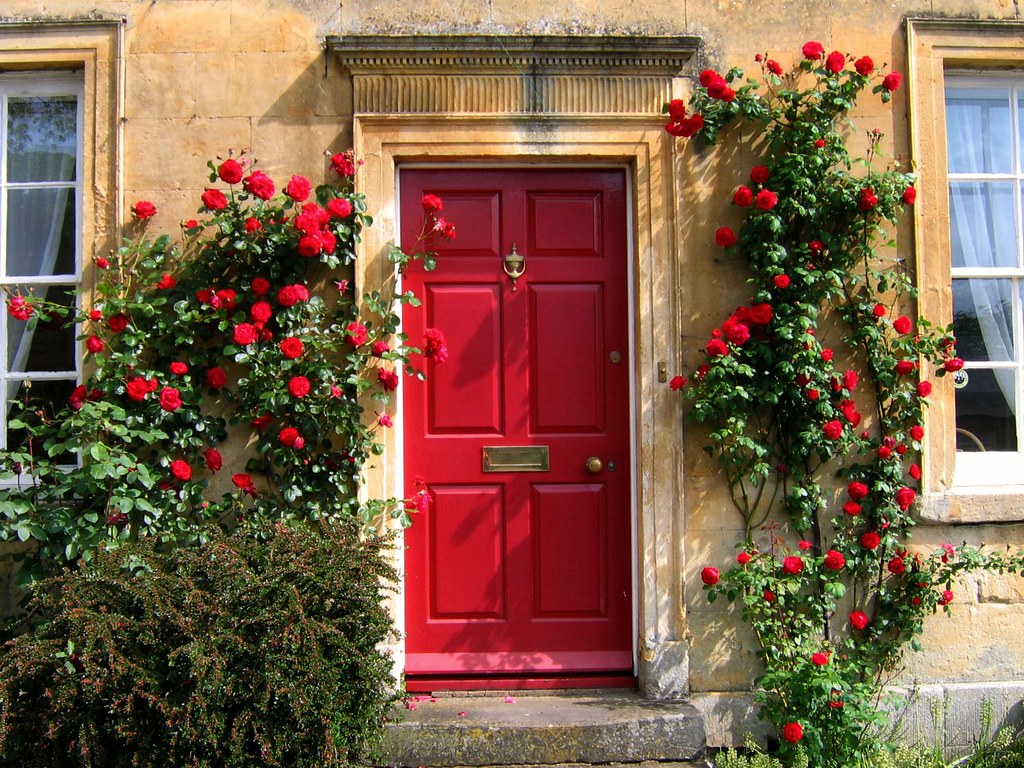 ... Red Door in the Cotswolds | by UGArdener & Red Door in the Cotswolds | For Best Effect View Large on BL\u2026 | Flickr