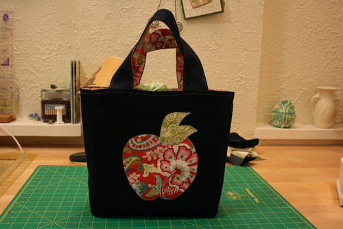 Completed Lunch Bag | by The Sometimes Crafter
