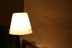 Chaleur d'une lampe de bureau