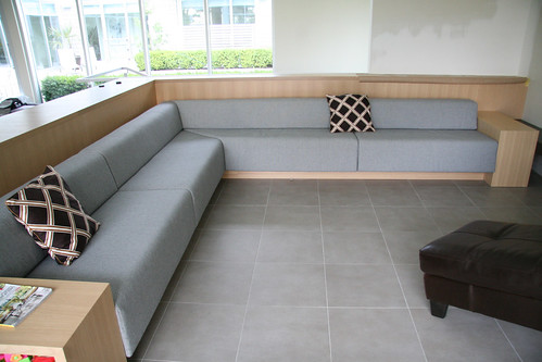 Built In Bench Seating Upholstered In Wool Here Is A