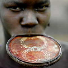 Mursi lip plate South Ethiopia | by Eric Lafforgue