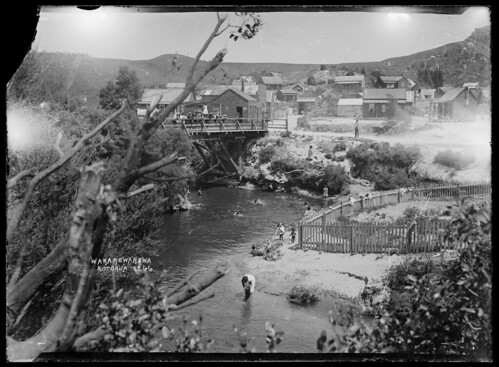 Whakarewarewa village, 1908 | by National Library NZ on The Commons