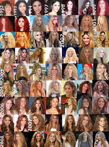 Shakira hair timeline | by raychylle