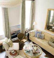 Small Spaces Elegant Neutral Living Room Domino Magazine