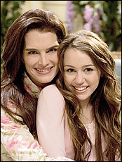 Miley Cyrus and Brooke Shields | by demilovato_mileycyrus2023