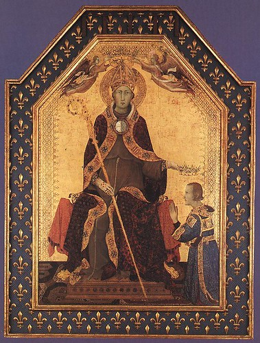Simone Martini, St. Louis of Toulouse Crowning Robert of Anjou, King of Naples, ca. 1316, Naples