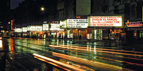 Grind house movie theatre row, 42nd St, New York City | Flickr