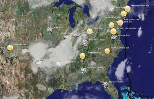 Twitter Weather Map Mashup | Last Thursday I did a mashup wi… | Flickr