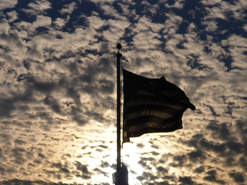 Flag In Front of Sunset and Clouds 3 | by valsacde
