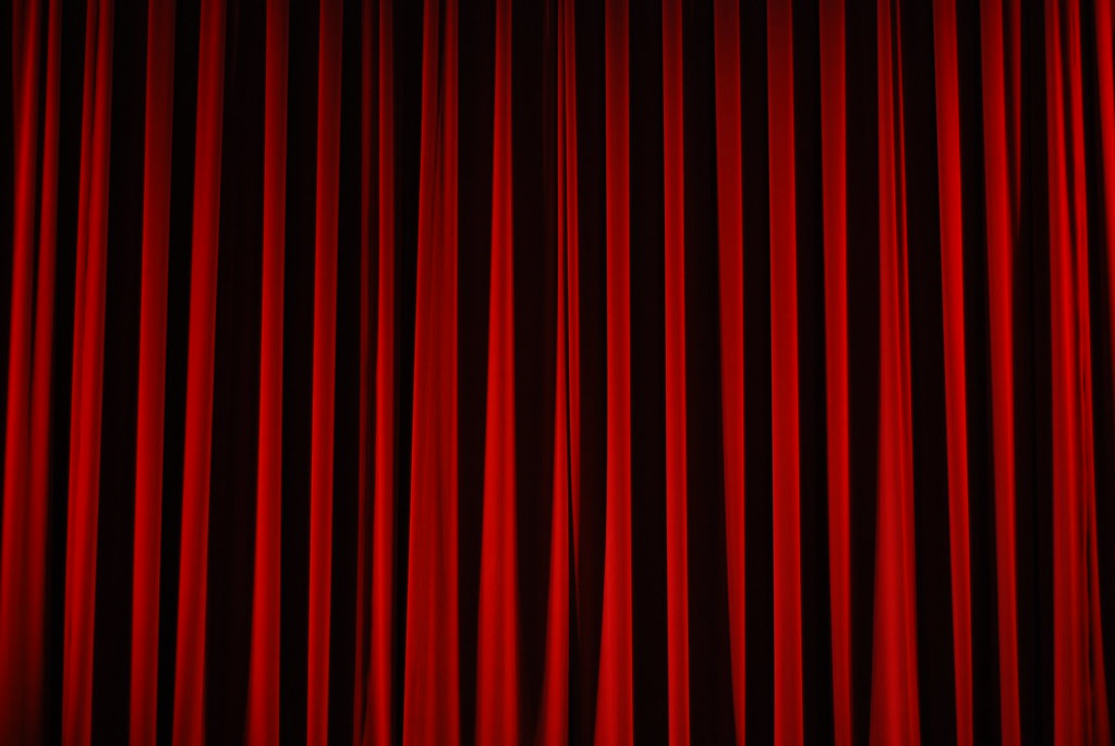 red stage curtains | I took this at a Sweet Can show. I real… | Flickr